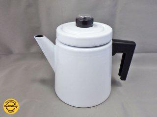 未使用品 フィネル FINEL アンティヌルメスニエミ ホーロー コーヒーポット ホワイト フィンランド ■