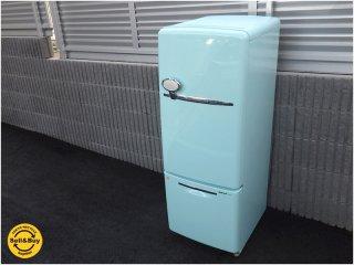 ナショナル / National パーソナルノンフロン冷蔵庫 『 WiLL FRIDGE mini / ウィル フリッジ ・ミニ 162L 』 希少ターコイズカラーの最終型2005年モデル ★