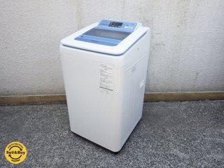 パナソニック Panasonic 全自動洗濯機 泡洗浄 7kg 2014年製 ブルー NA-FA70H1 ●