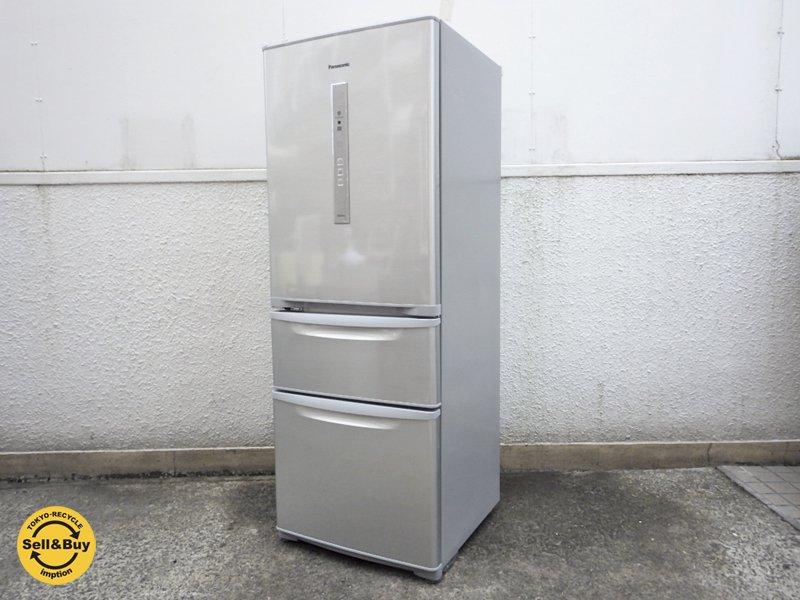 パナソニック Panasonic 321L 冷凍冷蔵庫 シャイニングシルバー NR-C32DML-S 2015年製 左開き エコナビ 省エネ設計 美品 ●