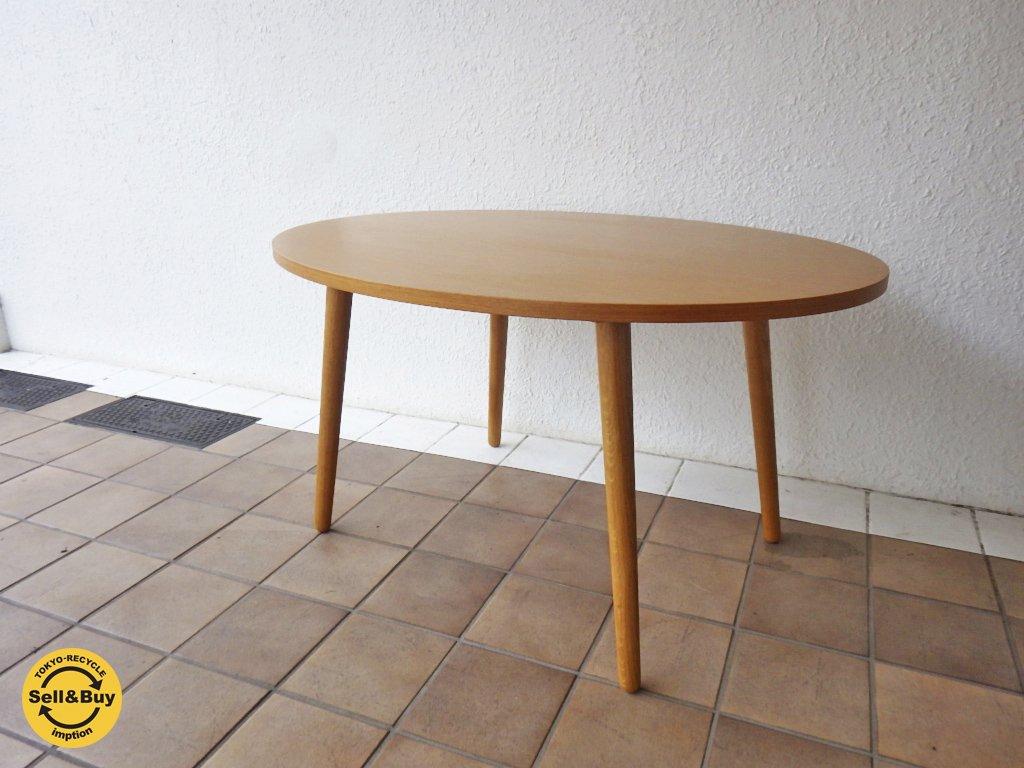 ウニコ / unico  アルベロ / ALBERO   オーバル カフェテーブル チーク材  ◇