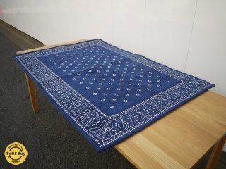 アクメファニチャーacme furniture クロスバンダナラグ Cross Bandanna Rug 140*100 ブルー ◎