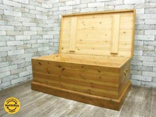 ペニーワイズ 机 ブランケットボックス 無垢 パイン材 テーブル 収納 ●