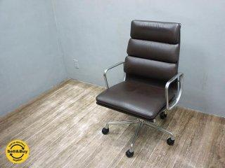 ハーマンミラー イームズ ソフトパッド グループ エグゼクティブ チェア C  本革 HermanMiller Eames Soft Pad Group Executive Chair■