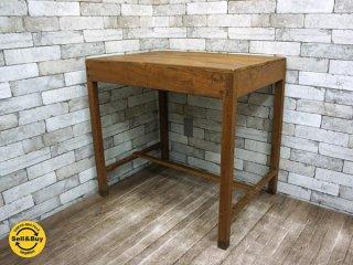 オールドメゾン old maison チーク材 古材 ダイニングテーブル デスク ●