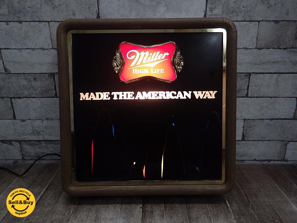 USビンテージ ミラービール MILLER BREWING COMPANY パブライト 80's ●