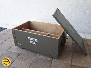スイス軍 Swiss army ミリタリー トランク 木箱 インテリア ボックス ◇