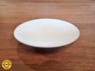 黒田泰蔵 白磁 小皿 9.5cm ●