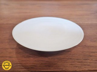 黒田泰蔵 白磁 小皿 11.5cm 欠けアリ ●