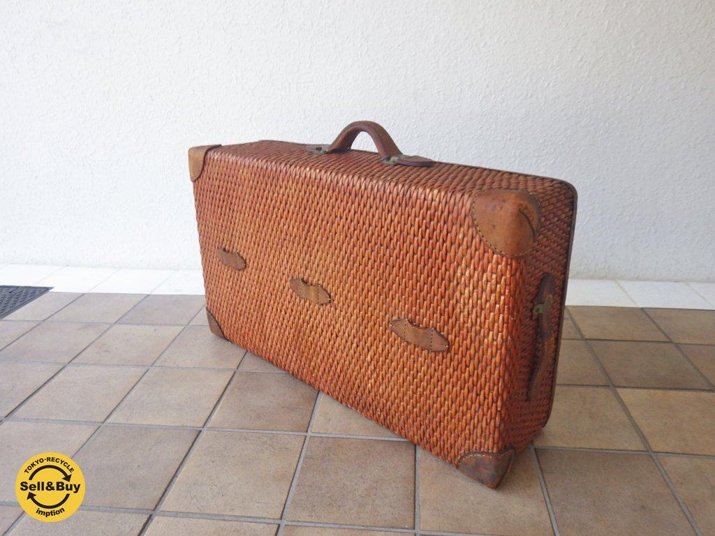 ビンテージ  柳行李 トランク スーツケース ◇