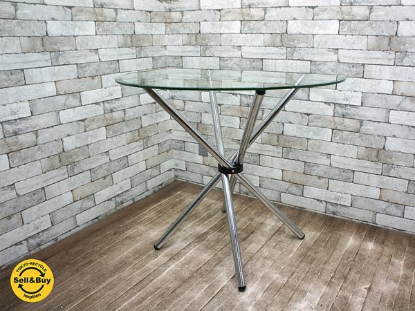 クラスティーナ crastina ガラステーブル カフェテーブル ラウンド シンプル モダンスタイル ●