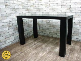 ボーコンセプト Bo concept ブラックカラー塗装 テーブル デスク  モダンデザイン A ●