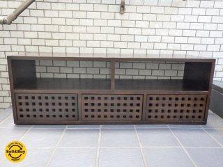 エーフラット a.flat キューブ テレビボード 無垢材 引き出し3杯 アジアン ■