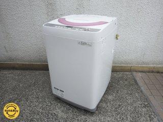 シャープ / SHARP 『 6kg ステンレス槽 洗濯機 ES-GE60R 』 状態良好! 高年式! 2016年製 取扱説明書付 ●