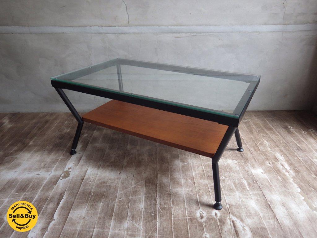 フランフラン Francfranc / メリオル ローテーブル コーヒーテーブル Mサイズ ガラス x アイアン ♪