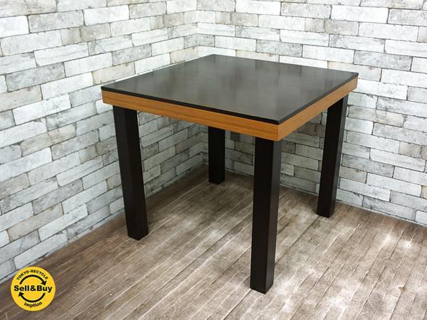 エーフラット a.Flat 木製 竹 バンブー ダイニングテーブル W80cm アジアン家具 ●