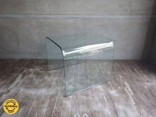 曲げガラス サイドテーブル glass side table ♪