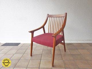 BC工房  だんらん工芸椅子 ラウンジチェア チーク無垢材 ◇