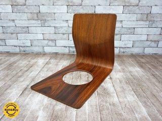 天童木工 TENDO  ヴィンテージ 欅 座椅子 藤森健次 プライウッド A ●