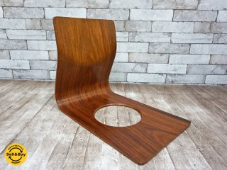 天童木工 TENDO  ヴィンテージ 欅 座椅子 藤森健次 プライウッド B ●