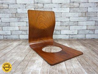 天童木工 TENDO  ヴィンテージ 欅 座椅子 藤森健次 プライウッド C ●