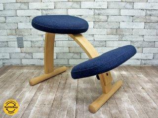 リボ Rybo バランスイージー Balans EASY チェア 学習椅子 ネイビー×ブラック ミックスファブリック ●