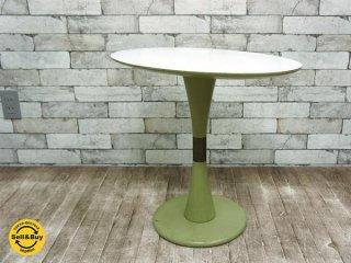 ビンテージ サイドテーブル メラミン化粧板天板 ミッドセンチュリーデザイン昭和レトロ ●