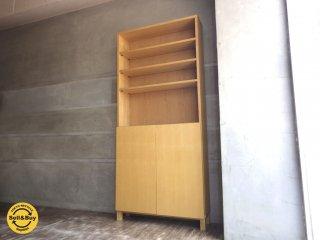 無印良品 MUJI / 組み合わせて使える 木製収納 本棚 タモ材 ミドルタイプ ♪