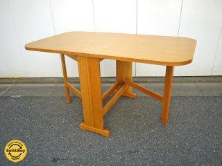 コスガ KOSUGA  バタフライ ダイニングテーブル 折り畳み バーチ材 ナチュラル ◎