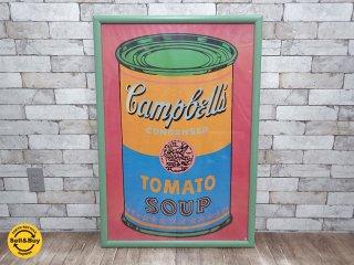 アンディ・ウォーホル Andy Warhol キャンベルのスープ缶 Campbell's Tomato Soup Can ポスター 額装 ●