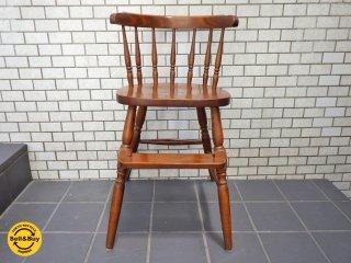 飛騨高山 柏木工 KASHIWA クラシックデザイン ベビーチェア 子供椅子 ■