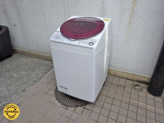シャープ SHARP 8k/4.5k 洗濯乾燥機 『ES-TX840-R』 状態良好 2015年製 ●