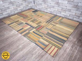 コンランショップ THE CONRAN SHOP パッチワーク ラグマット 絨毯 ●