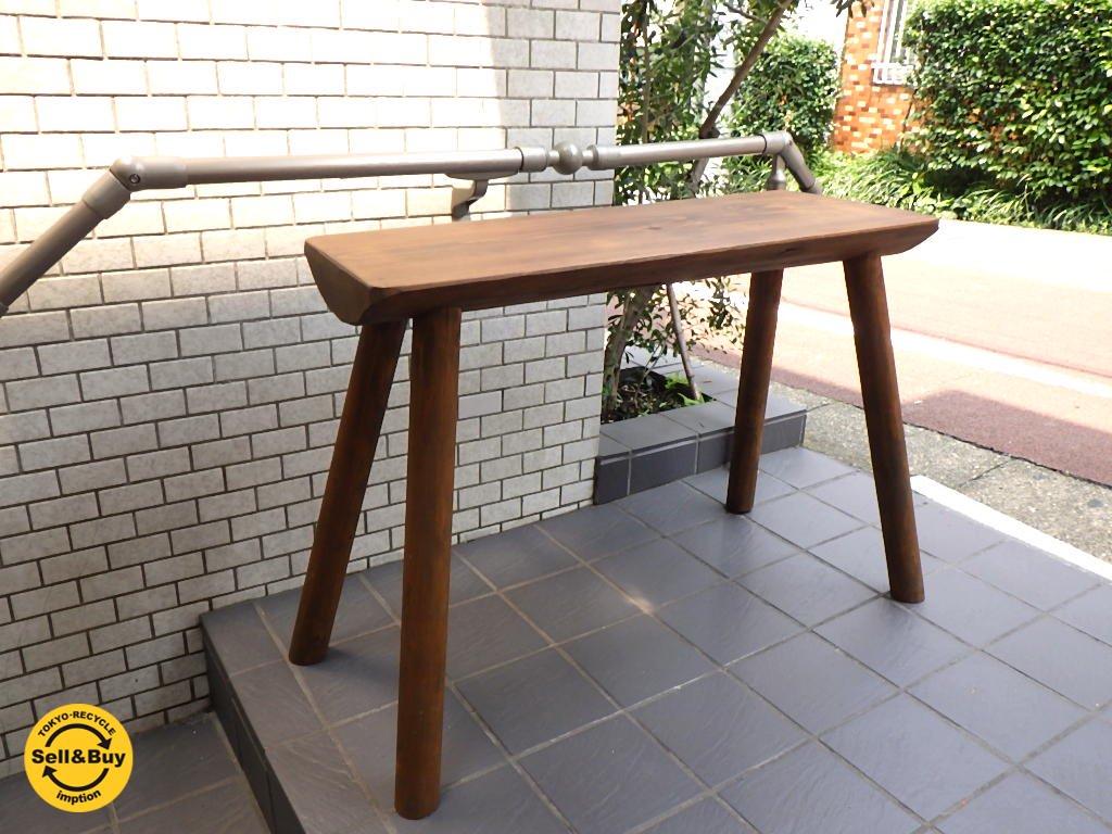 無垢材 コンソールテーブル 古材風アレンジ テーブル パイン材■