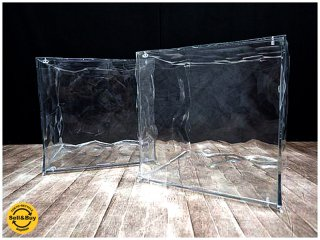 カルテル / Italy Kartell デザイン : Patrick Jouin キューブ型ストレージ / 収納家具 『 オプティック / OPTIC 』×2pセット・クリスタル ★