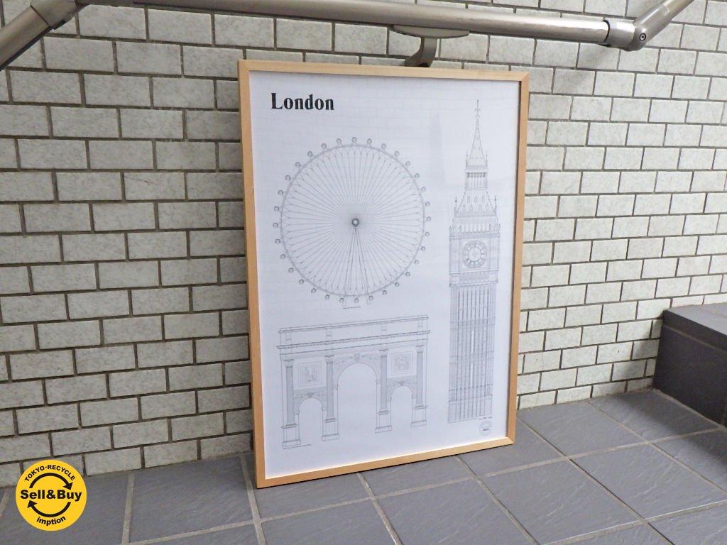 スタジオ エシム Studio Esinam ロンドン ランドマークポスター Landmarks poster London  50x70 cm ■