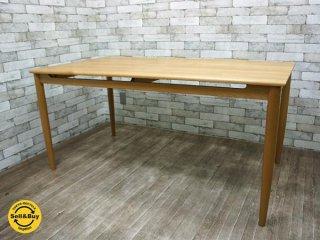 ケユカ KEYUCA チェルビアット ダイニングテーブル アルダー材 w150cm 北欧スタイル ●