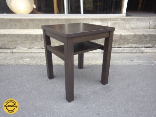 無印良品 MUJI タモ材 サイドテーブル ナイトテーブル ブラウン ♪
