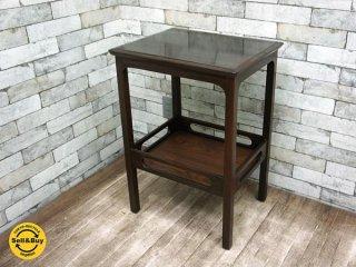 マルニ木工 maruni ビンテージ サイドテーブル ランプテーブル 花台 孔雀マルニ シール付き オールドマルニ ●