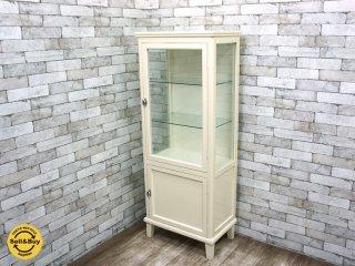 ホワイトペイント ケビント ドクターキャビネット 医療棚 ガラス棚 ◎