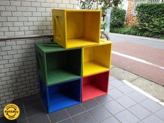 カラフル ペイント ボックス トイボックス TOY 木箱 おもちゃ 5個セット■