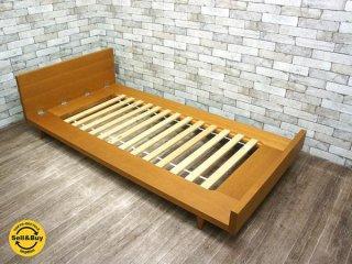 ウニコ unico コルソ CORSO シングルサイズ ベッド オーク材 廃盤 ●
