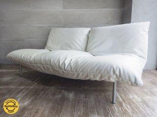 リーンロゼ ligneroset カラン CALIN F 2Pソファ ギャッジ付 定価286,200円 PVCレザー ホワイト  ♪