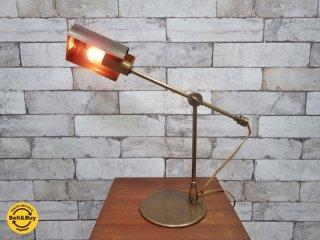 ピーターマン Pieterman ビンテージ 真鍮製  デスクランプ アンティークスタイル 二段階調光 ●
