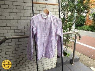 コム デ ギャルソン COMME des GARCONS HOMME メンズ XS 丸襟 ネルシャツ コットン100% ■
