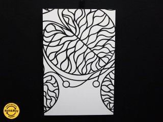 マリメッコ marimekko ボットナ Bottna ファブリックパネル ブラック × ホワイト 箱付 ●