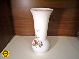 マイセン Meissen フラワーベース チェリー 花瓶 定価16万 ◎
