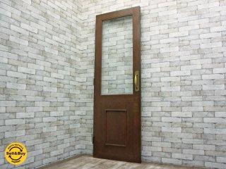 木製ガラス付 扉 ドア ナラ 無垢材 大型 店舗什器 右側取手 ●