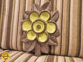 ウプサラ エクビー Upsala Ekeby 花の陶板 イルマ・ユアストン スウェーデン ■