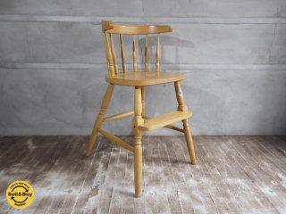 飛騨高山 柏木工 KASHIWA クラシックデザイン ベビーチェア 子供椅子 ♪